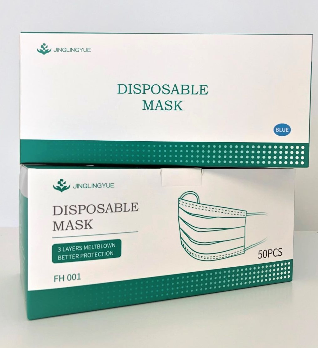 3 Ply Disposable Masks | BFE >99%, PFE > 97% (1 Box / 50 Pieces) (SAME DAY SHIPPING)