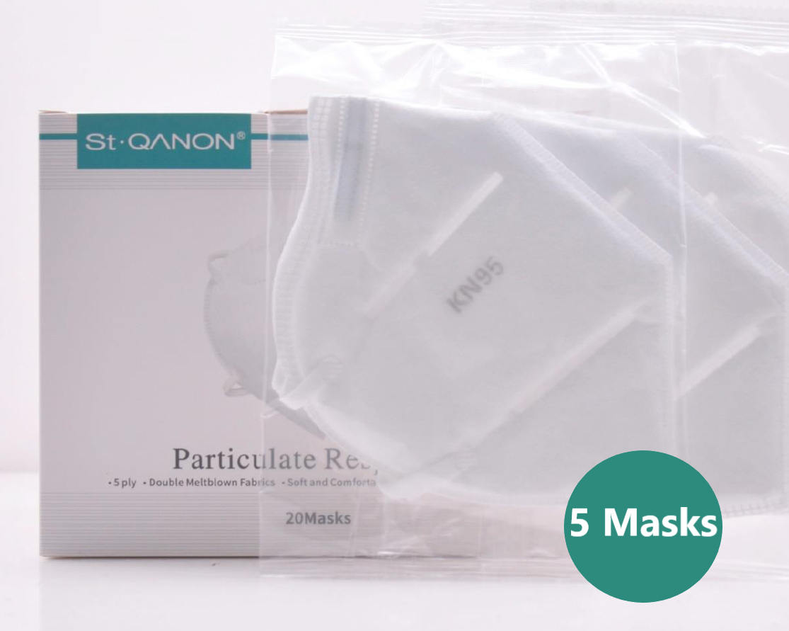 5 Ply Particulate Respirator KN 95 (Commercial) 5 Pieces